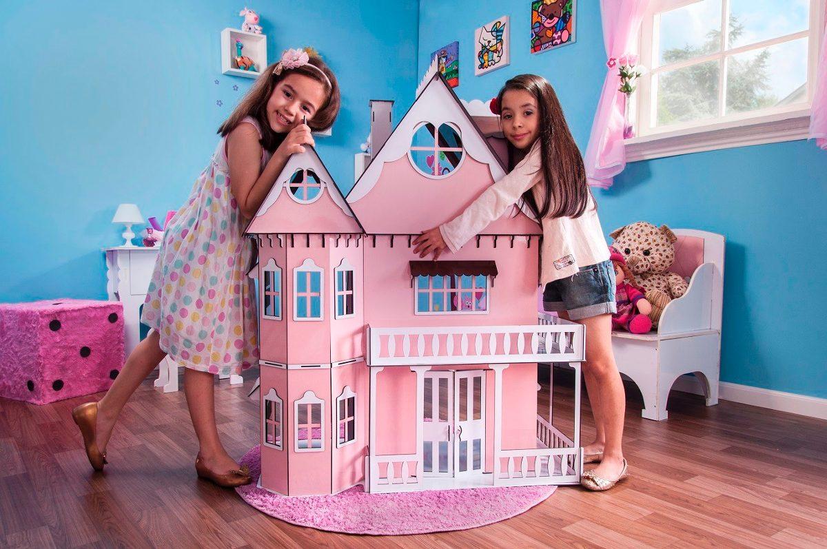 802f128c8 Kit Casa Barbie Com Moveis Completo Pintada 1