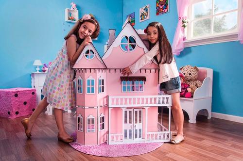 kit casa barbie com moveis completo pintada 1,2 m altura p-p