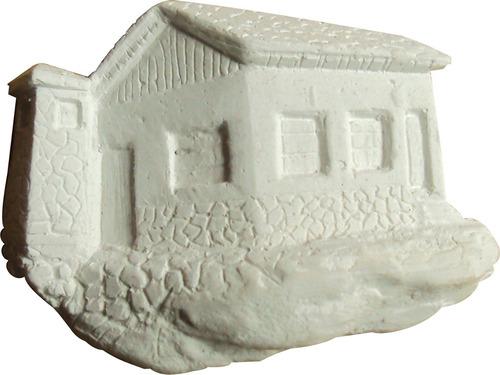 kit casa em resina para apliques, em branco, peq., (10 pçs).