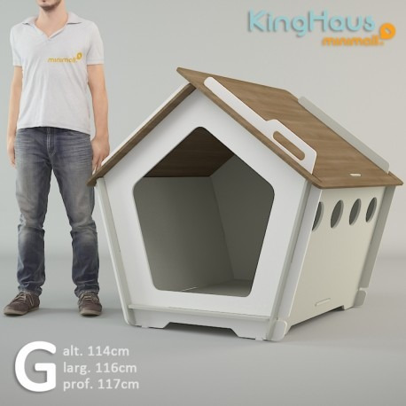 kit casinha p/ cachorro grande kinghaus + colchão grátis g