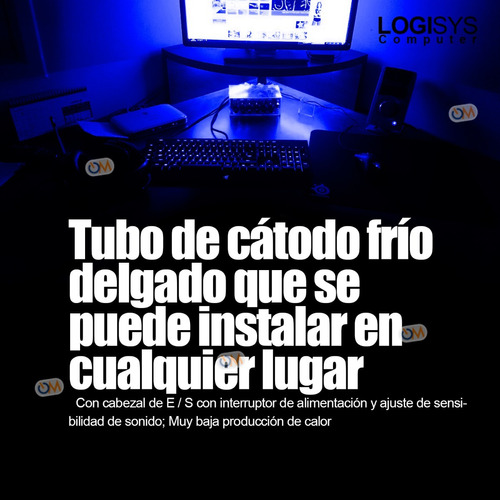 kit catodo luz 15  + módulo audiorítmico pc gabinete modding