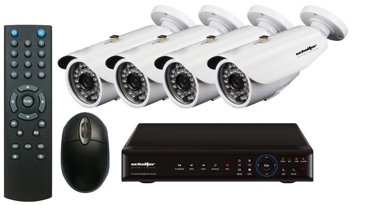 1fb6b4971e10f Kit Ccd Dvr 8ch Video Vigilancia 4 Camaras Circuito Cerrado ...