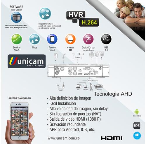 kit cctv combo dvr 4 canales+2cámaras bala+1tb disco duro