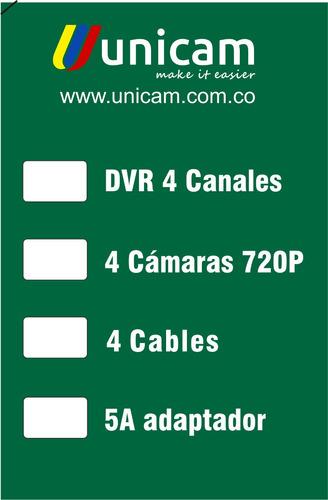 kit cctv combo dvr  4 canales+2cámaras bala+2cámaras domo