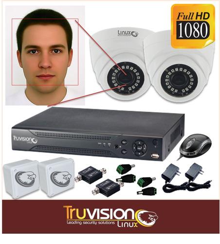 kit cctv dvr 4 canales + 2 cámaras de seguridad full hd