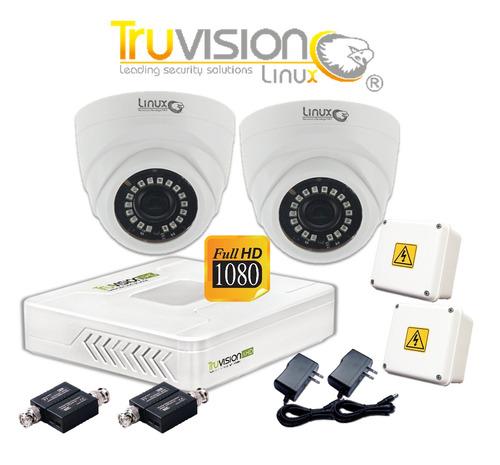 kit cctv dvr ahd 4 canales + 2 cámaras domo full ahd  5 años