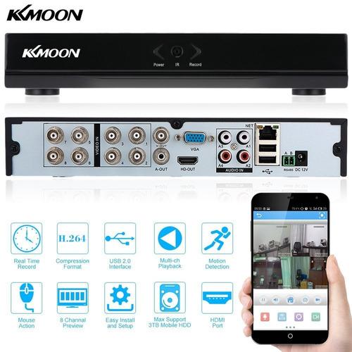 kit cctv kmoon 4 camaras 800tvl + dvr 8 canales y accesorio