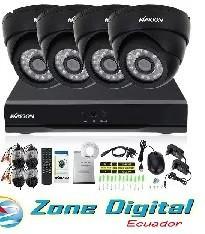 kit cctv kmoon 4 camaras 800tvl + dvr 8 canales y accesorios