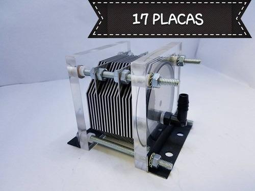 kit celda seca 6y8 cil 17 placas hho hidrogeno 10 años