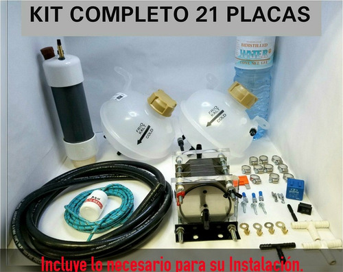 kit celda seca 8 cil 21 placas hho hidrogeno cajuela pwm
