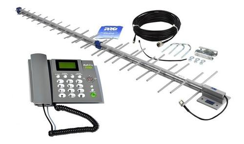 kit celular rural 2 chip - todas operadoras - proeletronic