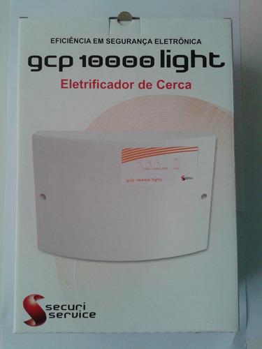 kit central cerca elétrica gcp10000 light + bateria + sirene
