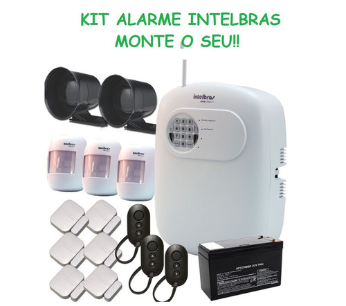 kit central de alarme + acessórios intelbras - monte o seu!!
