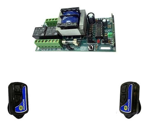 kit central placa de comando portão automático 02 controles