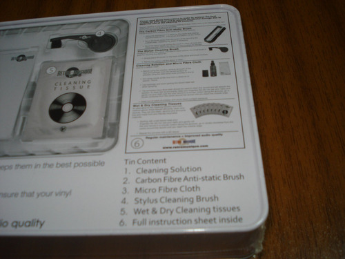 kit cepillo limpia vinilos (nuevo y sellado) made in usa