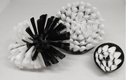 kit cepillos x 3 para taladro - highgloss rosario