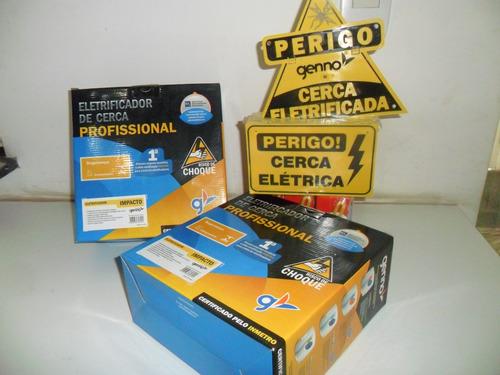 kit cerca eletrica 200 mts com alarme-central genno-iso 9001