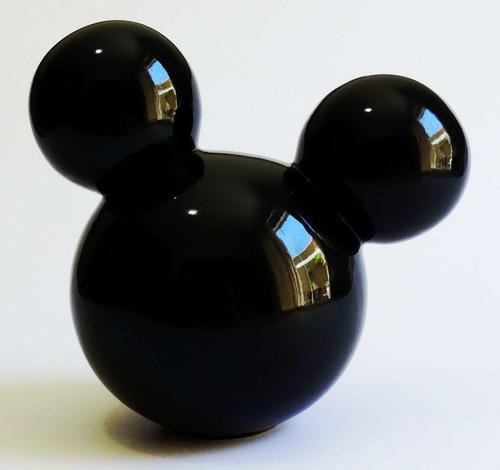 kit cerâmica 1 cabeça g com orelhas mickey/minnie + 1 luva