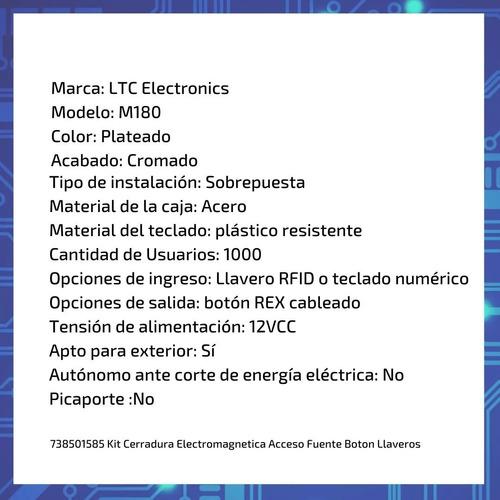 kit cerradura electromagnética autónoma 350 consorcio