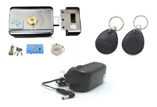 kit cerradura motorizada fuente llavero acceso m208s 12v2a