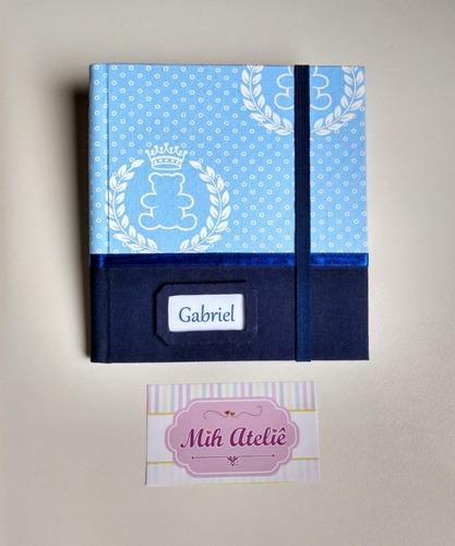 kit certidão de nascimento e porta fraldas e lenço