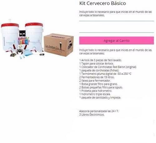 kit cervecero básico - solo herramientas.  envío gratis !