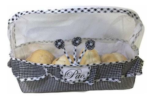 kit cesta pão forma c/ puxa saco