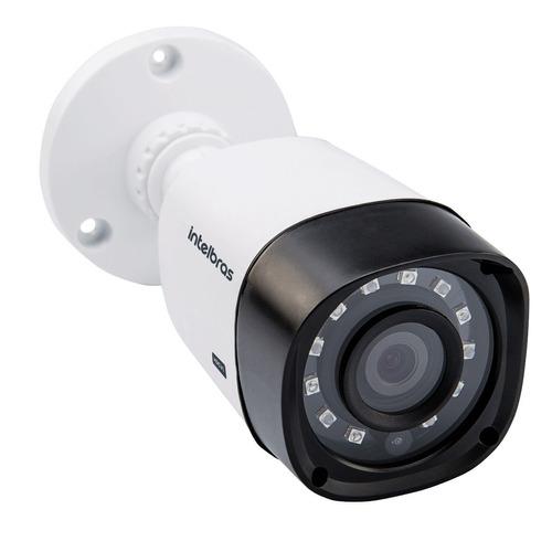 kit cftv 4 câmeras multi hd 720p 1mp dvr intelbras mhdx 1004