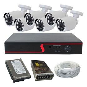 Kit Cftv 6 Câmeras Infravermelho Full Hd 1080p 2 Mp + Dvr 8 Canais Multi Hd