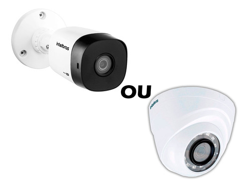 kit cftv 8 câmeras multi hd 720p 1mp dvr intelbras mhdx 1108