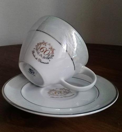 kit chá casal. bodas de diamante 60 anos de casamento