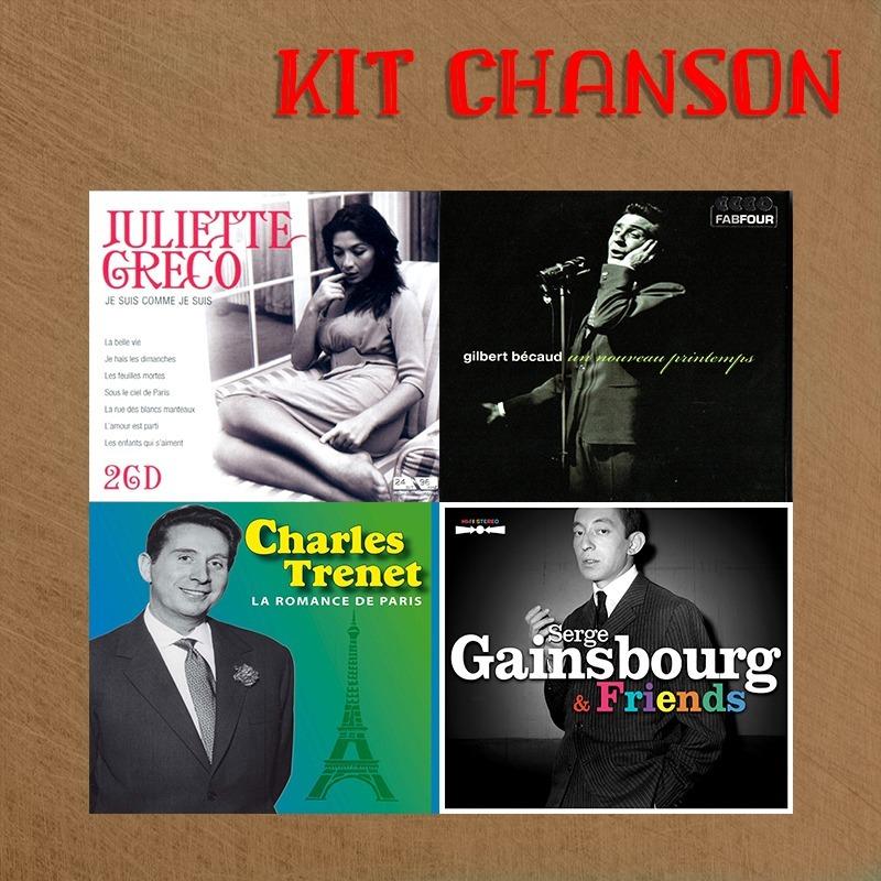 Kit Chanson - J  Gréco, G  Becaud, C  Trenet, S  Gainsbourg
