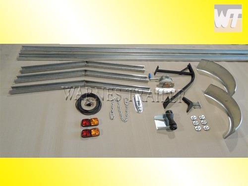 kit chasis para armar trailer nautico u galvanizada  lancha