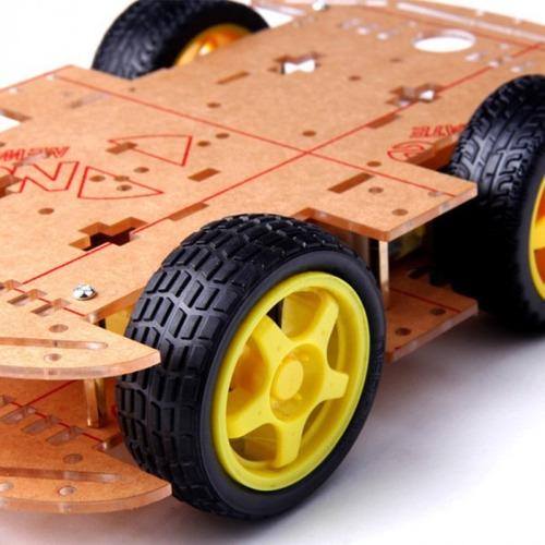 kit chassi para robô quatro rodas projeto arduino smart car