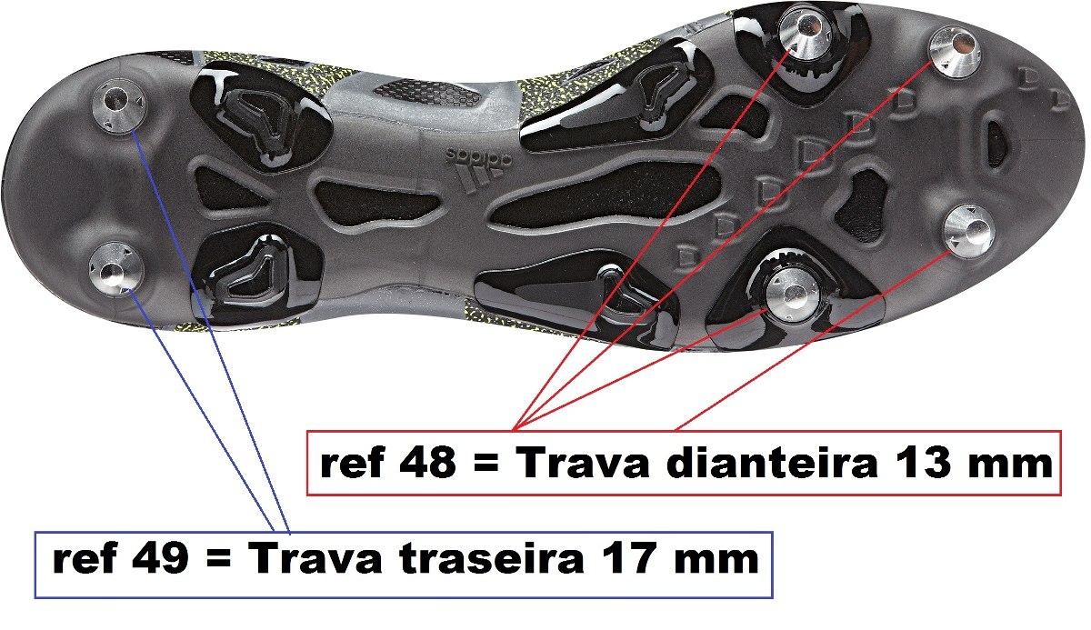 84ac010985d58 Kit Chave + 4 Travas Metal Cônicas adidas Ace X15 16 1magnus - R ...