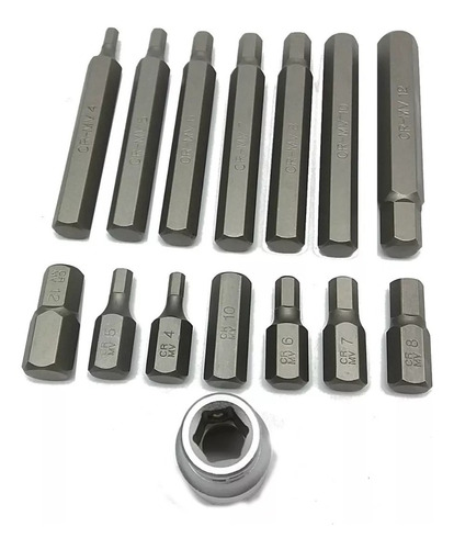kit chave allen tipo bit - 4 a 12 mm / 11313 - stels