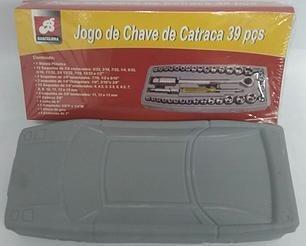 kit chave catraca reversível jogo soquetes 40 pçs + maleta