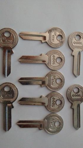 kit chave virgem yale p/ chaveiro 100 e 20 gorjes unidades
