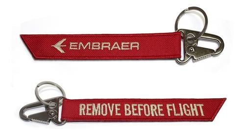 kit chaveiro 10 peças remove before flight aviação