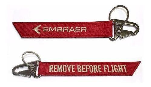 kit chaveiro 12 peças remove before flight aviação + pilot