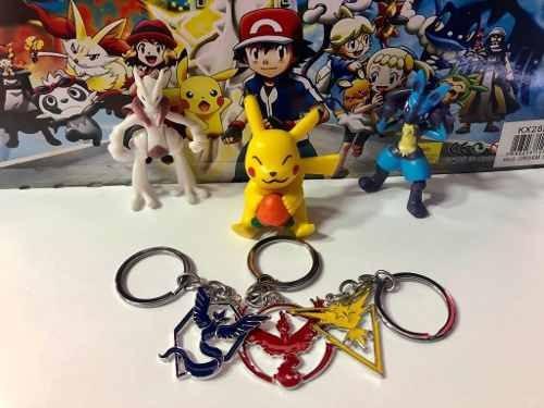 kit chaveiro pokemon go instinct, mystic ou valor kit 2 pçs
