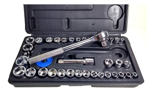 kit chaves jogo catraca reversível soquetes 40 peças maleta