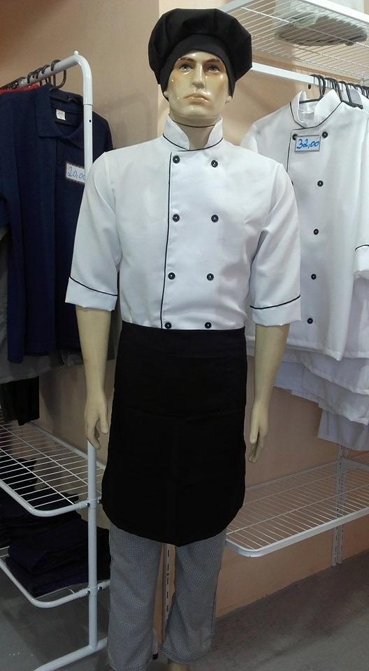 Kit Chef De Cozinha Dolma + Calça + Avental + Chapéu - R  99 77e0bc2a7c7