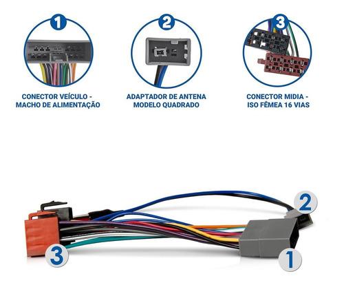 kit chicote som adaptador quadrado civic crv 07 a 11