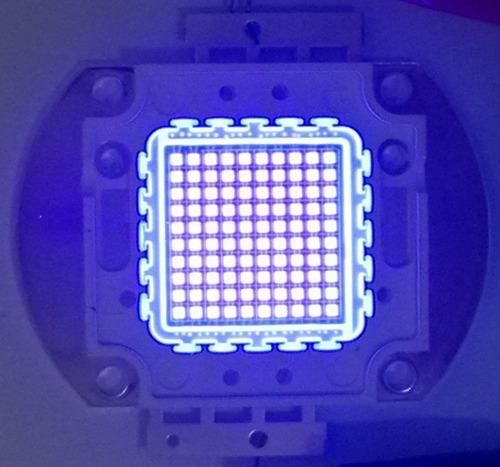 kit chip led 100w uv 395-400nm 35v+driver 3a 100w 35v+pasta
