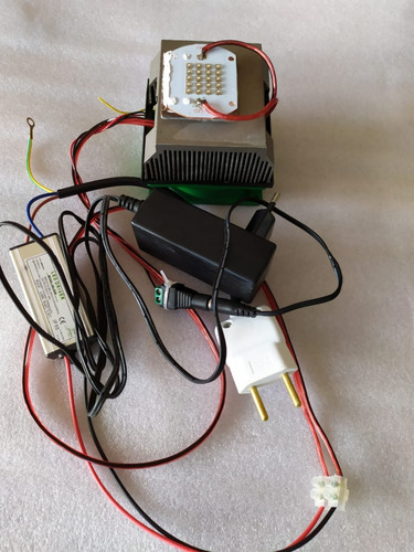 kit chip led 50w uv ultra violeta +driver++dissipador