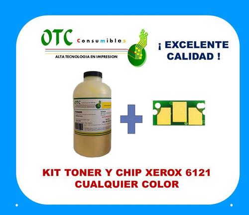 kit chip y recarga toner xerox phaser 6121