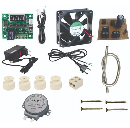 kit chocadeira termostato+fonte+resistencia motor acd3 +case