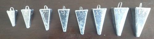 kit chumbada pirâmide pesca praia msdc 8 peças vários pesos