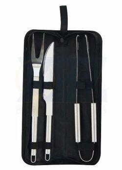 kit churrasco com 3 peças